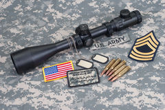 US ARMY sniper concept Royalty Free Stock Photography