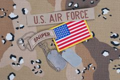 US ARMY sniper tab with blank dog tags Stock Photography