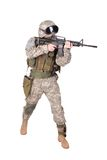 US ARMY soldier with m4 carbine Stock Images