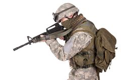 US ARMY soldier with m4 carbine Royalty Free Stock Photography