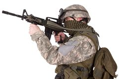 US ARMY soldier with m4 carbine Stock Image