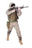 US ARMY soldier with m4 rifle Stock Photos