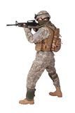 US ARMY soldier with m4 rifle Royalty Free Stock Photo
