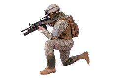 US ARMY soldier with m4 rifle Stock Image