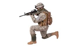 US ARMY soldier with m4 rifle Royalty Free Stock Photos