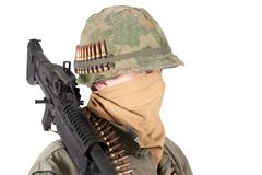 Us army soldier vietnam war period Royalty Free Stock Images