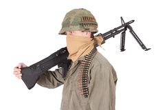 Us army soldier vietnam war period Royalty Free Stock Photo