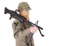 Us army soldier vietnam war period Stock Photo