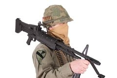 Us army soldier vietnam war period Royalty Free Stock Photography