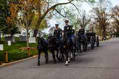 US Army Soldiers on Horses at Arlington Stock Photography