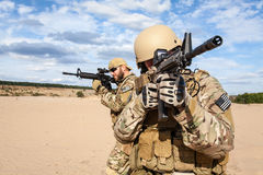 US Army Special Forces Group soldier. Green Berets US Army Special Forces Group soldiers Stock Photos