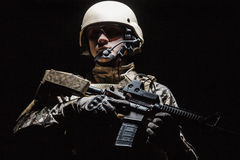 US Army Special Forces Group soldier. Green Berets US Army Special Forces Group soldier studio shot royalty free stock photo