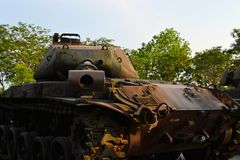 US Army Tank used during the Vietnam War Royalty Free Stock Images