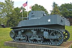 US Army Tank - Vintage WWII. M3A1 light tank used by the US Army in World War II royalty free stock photos