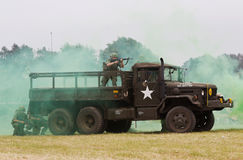 US army troop carrier lorry Stock Image