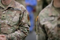 US Army troops royalty free stock photos