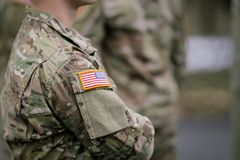 US Army troops stock photo