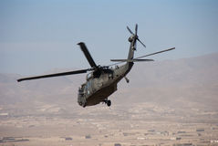US Army UH 60 Blackhawk. In Afghanistan in support of NATO operations and the International Security Assistance Force (ISAF royalty free stock image
