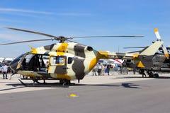 US Army UH-72 Lakota military helicopter. BERLIN, GERMANY - MAY 21, 2014: New US Army Eurocopter UH-72 Lakota helicopter at the International Aerospace Stock Image