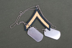Us army uniform with blank dog tags Royalty Free Stock Photo