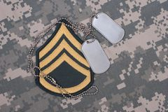 Us army uniform with blank dog tags Royalty Free Stock Image