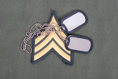 Us army uniform with blank dog tags Royalty Free Stock Photos