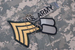 Us army uniform iraq war period Stock Photography