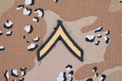 Us army uniform rank patch Stock Photo