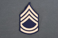 Us army uniform sergeant patch Stock Photography