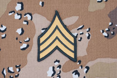 Us army uniform sergeant patch Stock Images