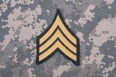 Us army uniform sergeant rank. Patch royalty free stock image