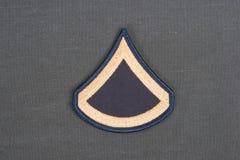 Us army uniform sergeant rank patch Stock Photos