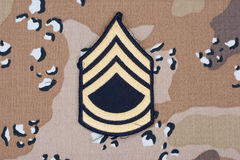 Us army uniform sergeant rank patch Stock Images