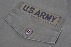 Us army uniform Stock Photography