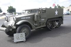 Free US Army WW2 Halftrack On Display In Salem, Oregon Royalty Free Stock Image - 192986756
