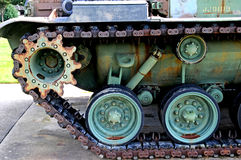Us army wwll military tank track assembly. Image of a US army WWll military tank track assembly Royalty Free Stock Photography
