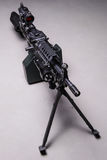 US automatic machine gun.Top view Royalty Free Stock Images