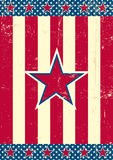US background red star Stock Photo