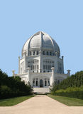 US Bahai temple. Bahai temple in the town of Wilmette, near Chicago. It is considered as one of the Illinois wonders Stock Photos