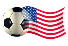 Us ball flag. World cup illustration Stock Photo