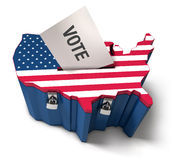 US ballot box Stock Photo
