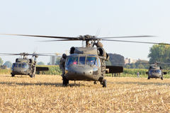 US Blackhawk helicopter Royalty Free Stock Photos