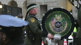 US Border Patrol Honor Guard. Video of us border patrol honor guard fifes and drums at the presidential inaugural parade of donald trump in washington dc on 1/20 stock video