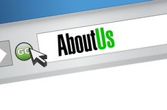 About us browser illustration design Royalty Free Stock Photos