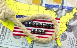 US Budget hole Stock Photo
