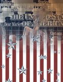US Business. USA Puzzle banknote and flag design Stock Photos