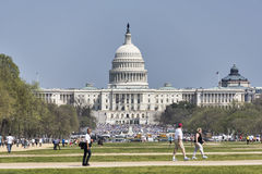 The US Capital during the Dream Act Reform rally Royalty Free Stock Photography