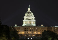 US Capital at Night. US Capital lit up at night Royalty Free Stock Photo