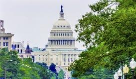 US Capital Pennsylvania Avenue Summer Green Trees Washington DC Royalty Free Stock Photography