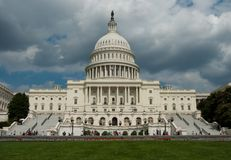 US Capitol. The building of US capitol in Washington DC on a cloudy day Stock Photography